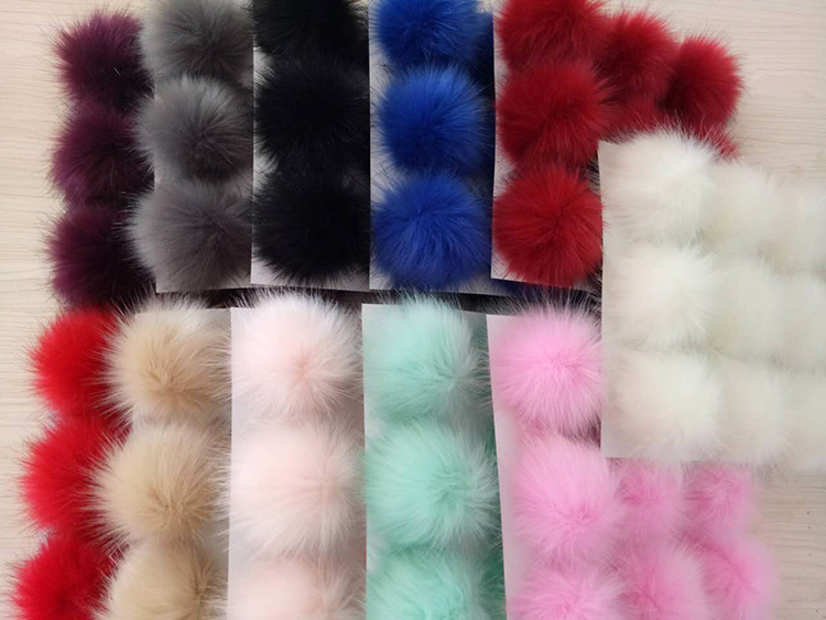 Accessories 10 Pcs Faux Fur Fluffy Ball Pom Pom Scrunchies Pompon With Buttons Fits Girl Hats Hair Accessories Gr110