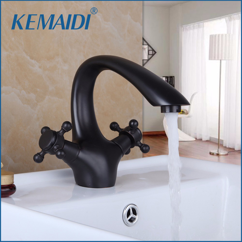 KEMAIDI Bathroom Basin Faucet brass bathroom faucets single handle Hot and Cold Water Tap Deck Mounted Mixer TapKEMAIDI Bathroom Basin Faucet brass bathroom faucets single handle Hot and Cold Water Tap Deck Mounted Mixer Tap