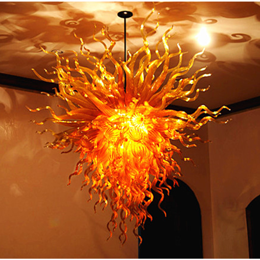 Murano Chandelier Color: Crystal Gold Color And Energy Saving Light Source Venetian