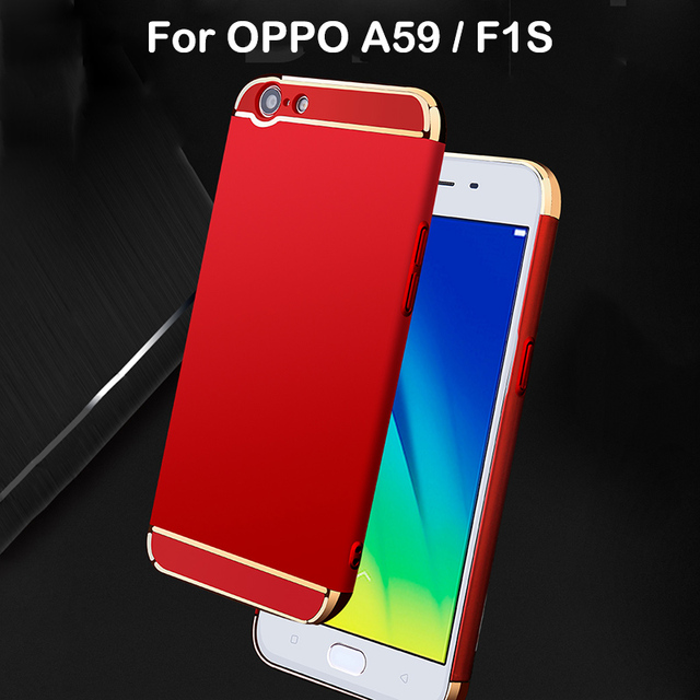 buy popular 0dfc8 18ab5 US $5.19 35% OFF|3 in 1 Hard Back Cover Case For OPPO A59 Case 360 Degree  Protection Anti knock Ultra Thin Slim For OPPO F1S Case Luxury Protect-in  ...