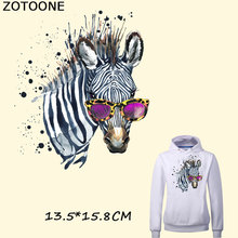 ZOTOONE Horse Patches for Jeans Fashion Clothes Stickers Iron on A-level Washable Heat Press Appliqued Animal F