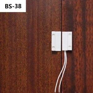 Image 2 - BS 38 إنذار الأمن السلكية نافذة الباب المغناطيسي مستشعر الاتصال التبديل ل GSM مفتاح بكرة قفل الباب الاتصالات التبديل