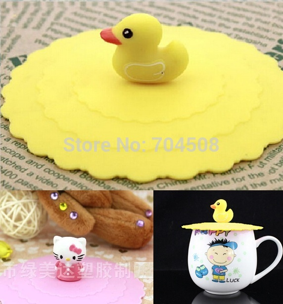FD935 Silicone Airtight Cup Cover Leak Proof Sealed Mug Suction Lid Cap ~1pc~
