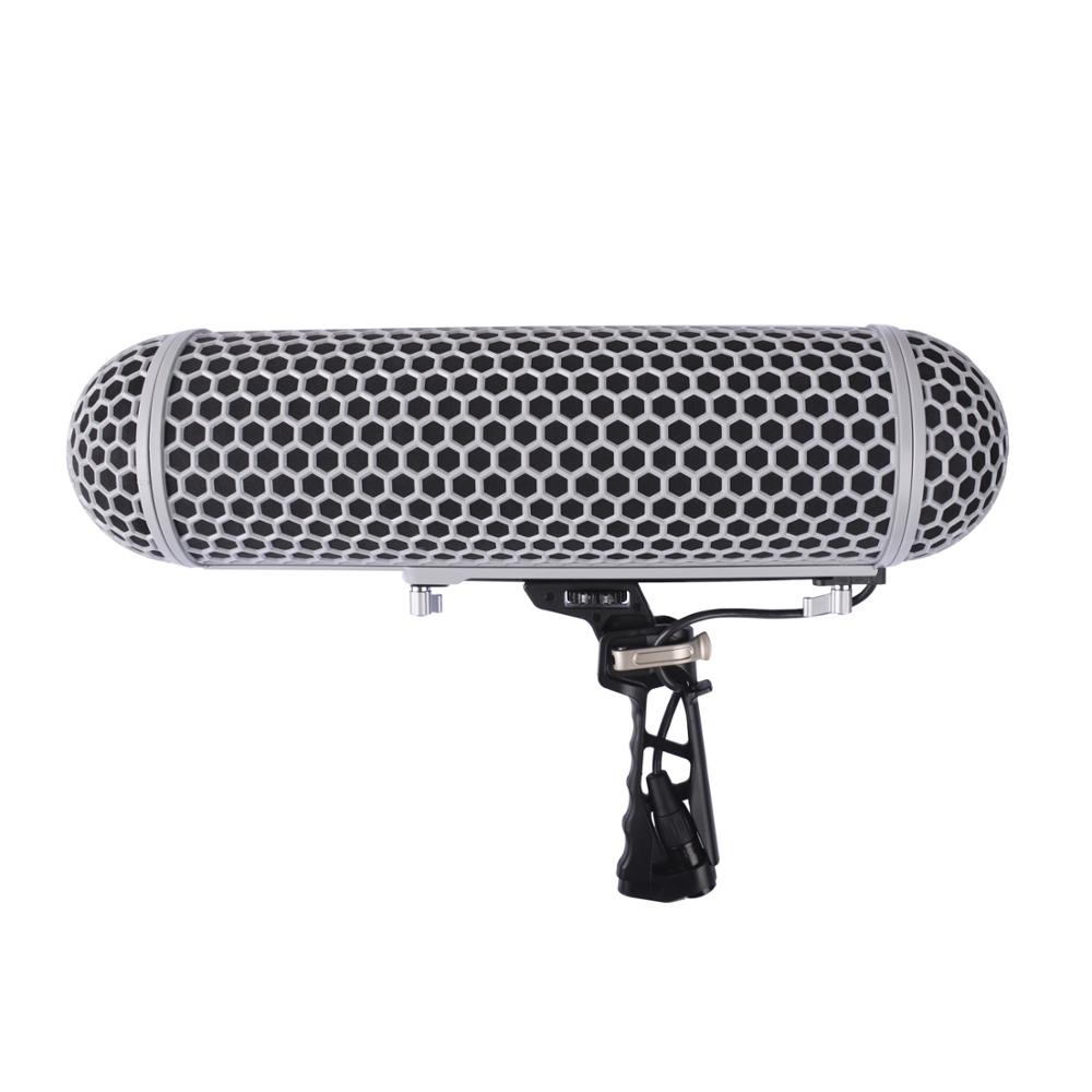 Micolive Microphone Windshield Blimp Protect Cage and Rycote Shock Mount System for Rode Microphones VS RODE