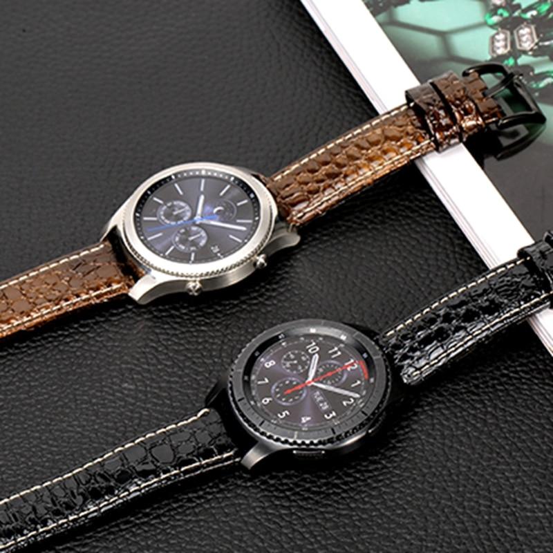 Lederarmband für Huawei GT Uhr 2Pro 22mm Armband für Samsung Galaxy Uhr 46mm Zahnrad S3 Armband Amazfit2 Armband