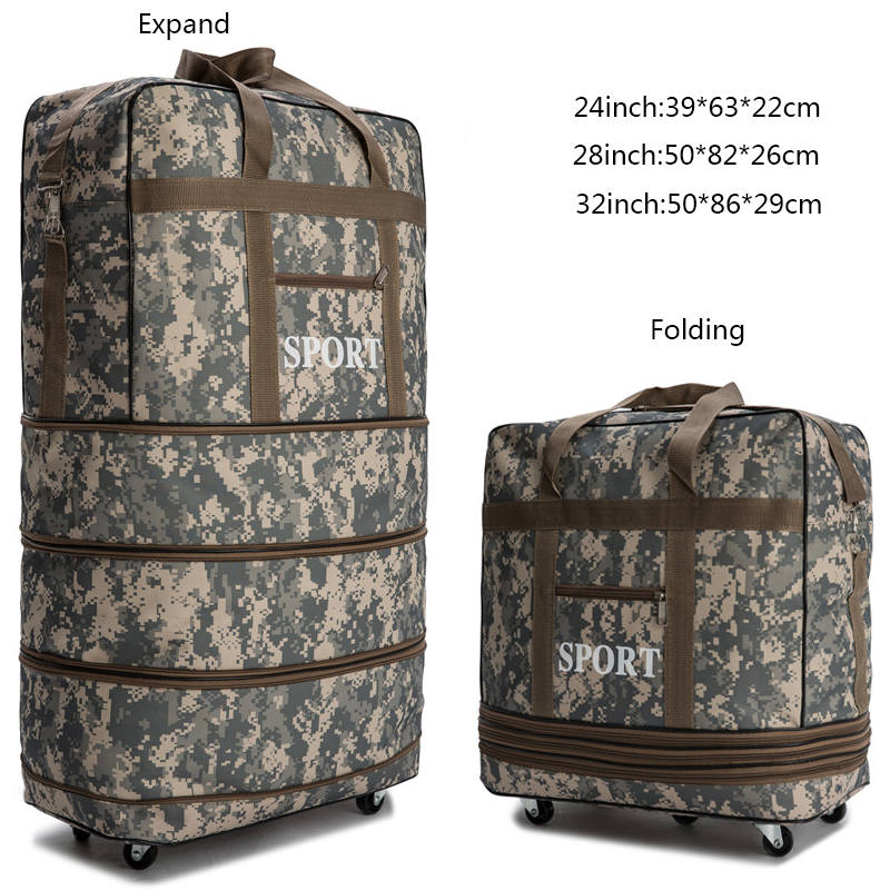 Large capacity carry on waterproof rolling luggage travel bag trolley luggage bag portable luggage folding suitcase with wheels