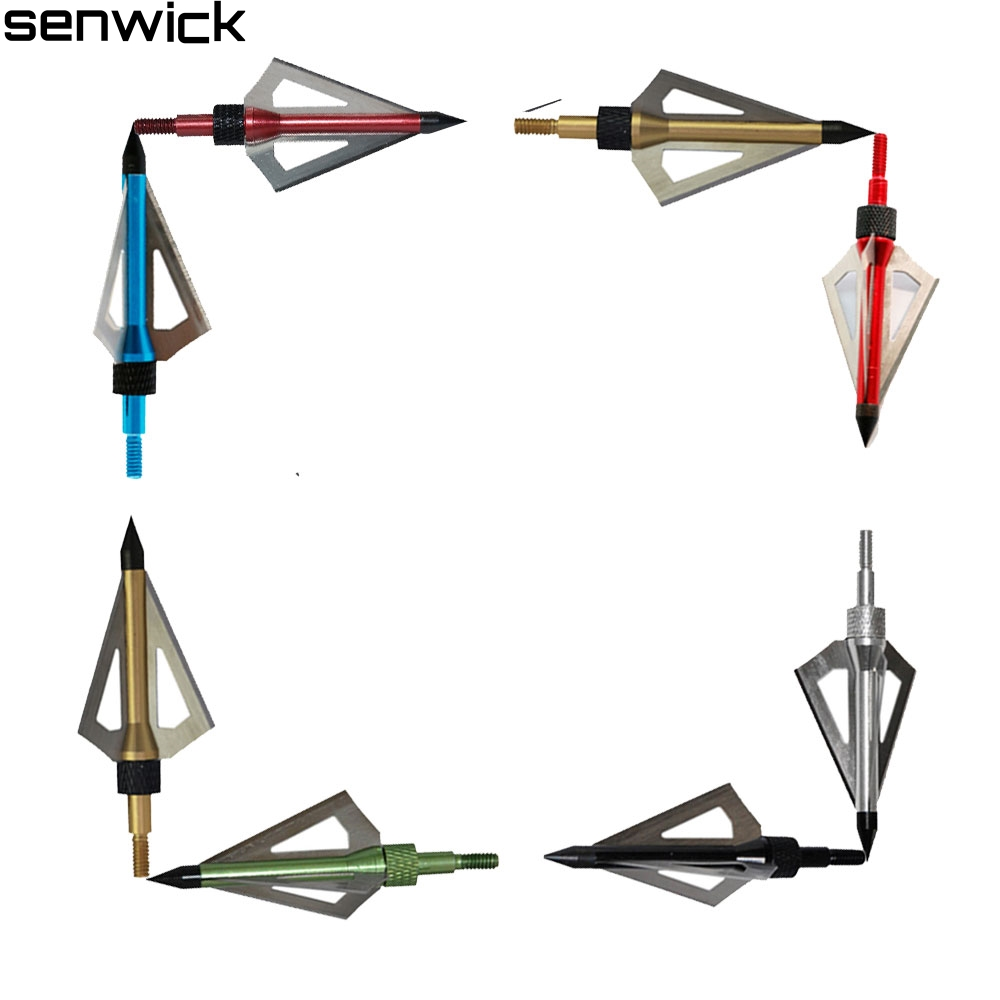 New Archery Hunting Broadheads Bone Hunting Arrowhead Steel Arrow Head Release Compound Bow Crossbow Broadheads