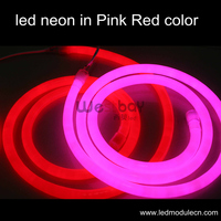 뜨거운 판매 표준 12*26 미리메터 led 네온, 핑크 색상, 컬러 재킷, 120 볼트 입력 네온 조명 fordisco 조명