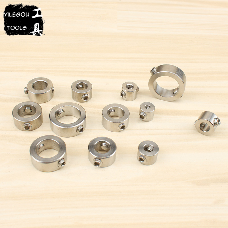 6 8 12 Pieces Drill Bit Depth Stop Collar 3-16mm Spacing Ring For Woodworking Or Metalworking Drill Bit (Double Location Hole) hot 7x drill depth stop collars
