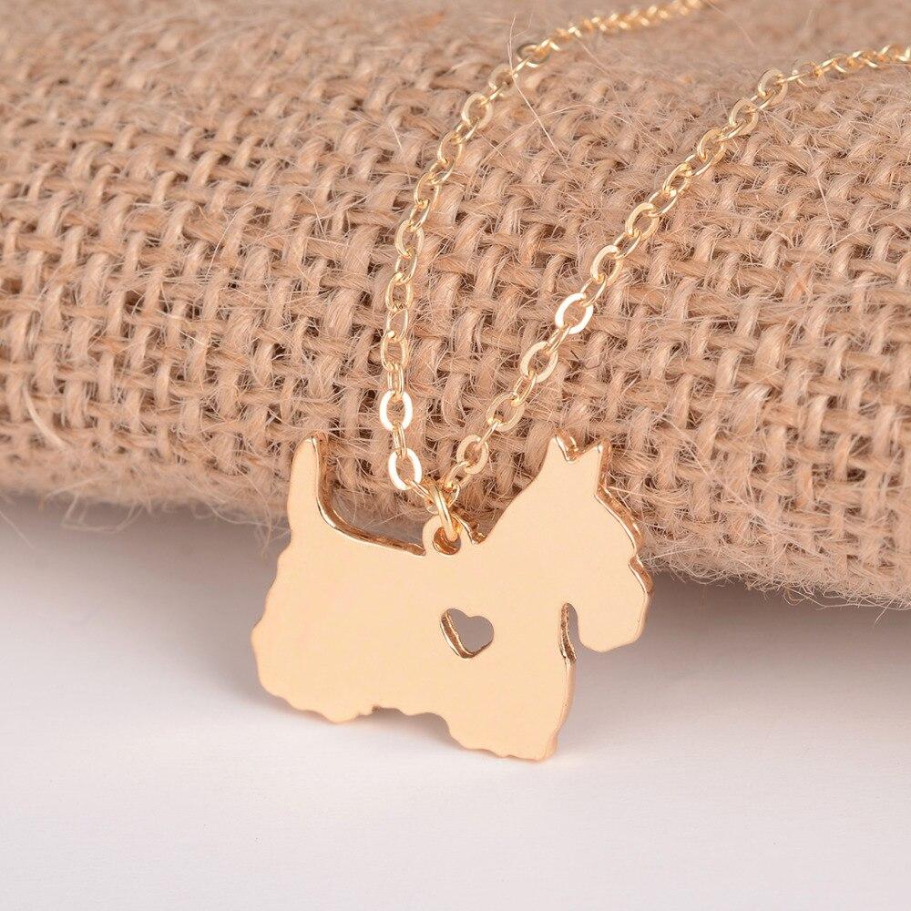 Gold & Silber 1pc Scottish Terrier Halskette Scottie Halskette Custom - Modeschmuck - Foto 5
