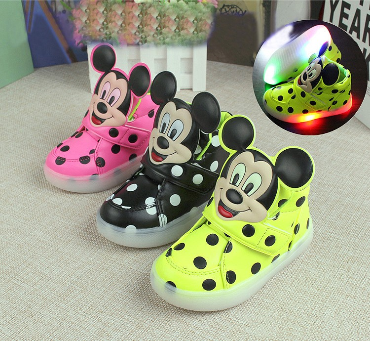 Children Casual Shoes 2018 Fashion Boys Girls Sport Shoes Baby LED Light Luminous Sneakers Flasher Baby Snow Boot Size 21-30