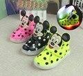 Crianças Sapatos Casuais 2016 Moda Das Meninas Dos Meninos Do Bebê Sapatas Do Esporte Tênis de Luz LED Luminoso Pisca Bebê Bota de Neve Tamanho 21-30