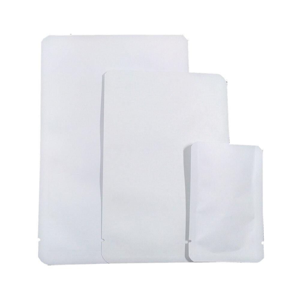 Gros sacs en papier Kraft blanc ouverture Top sac sous vide thermoscellable sac de stockage de collation alimentaire poche Mylar intérieure avec coin rond