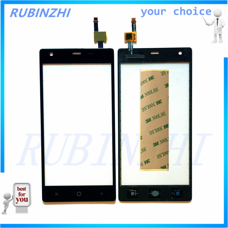 RUBINZHI Mobile Phone Touch Screen Panel For Micromax Q462 Touch Front Glass Touchscreen Sensor Replacement Lens Parts +tape