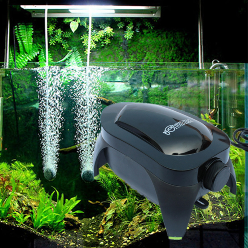 Aquarium Adjustable Air Pump Increase Oxygen For Fish Tank Air Flow Control Aquarium Accessories With Air Stone Check Valve Tube