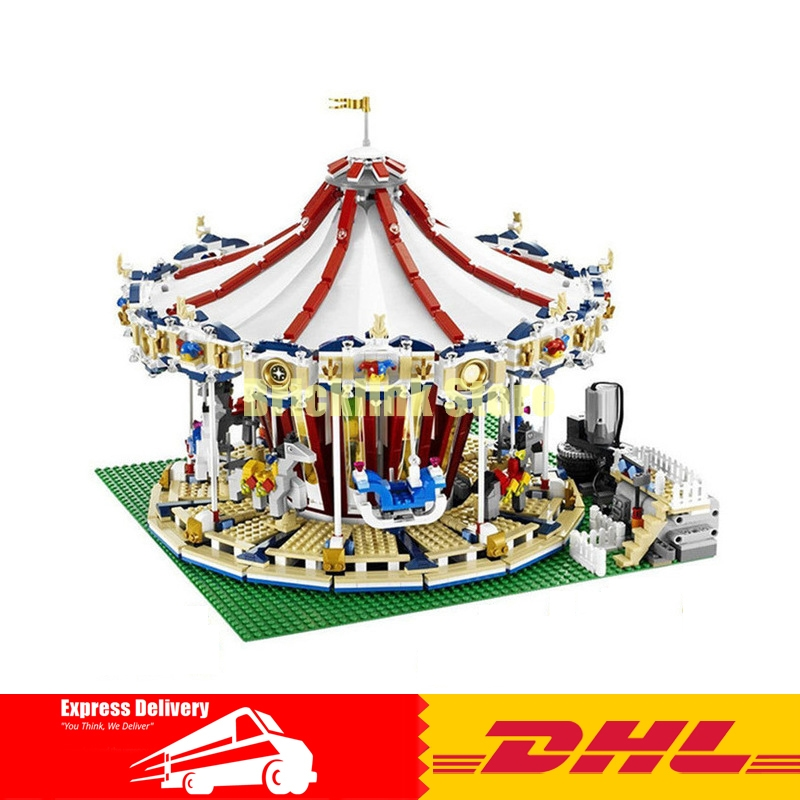 Creator Carousel Model Building LEPIN 15013 3263Pcs City Street Kits Blocks Toys for Children Compatible 10196 Birthday Gift lepin 02012 city deepwater exploration vessel 60095 building blocks policeman toys children compatible with lego gift kid sets
