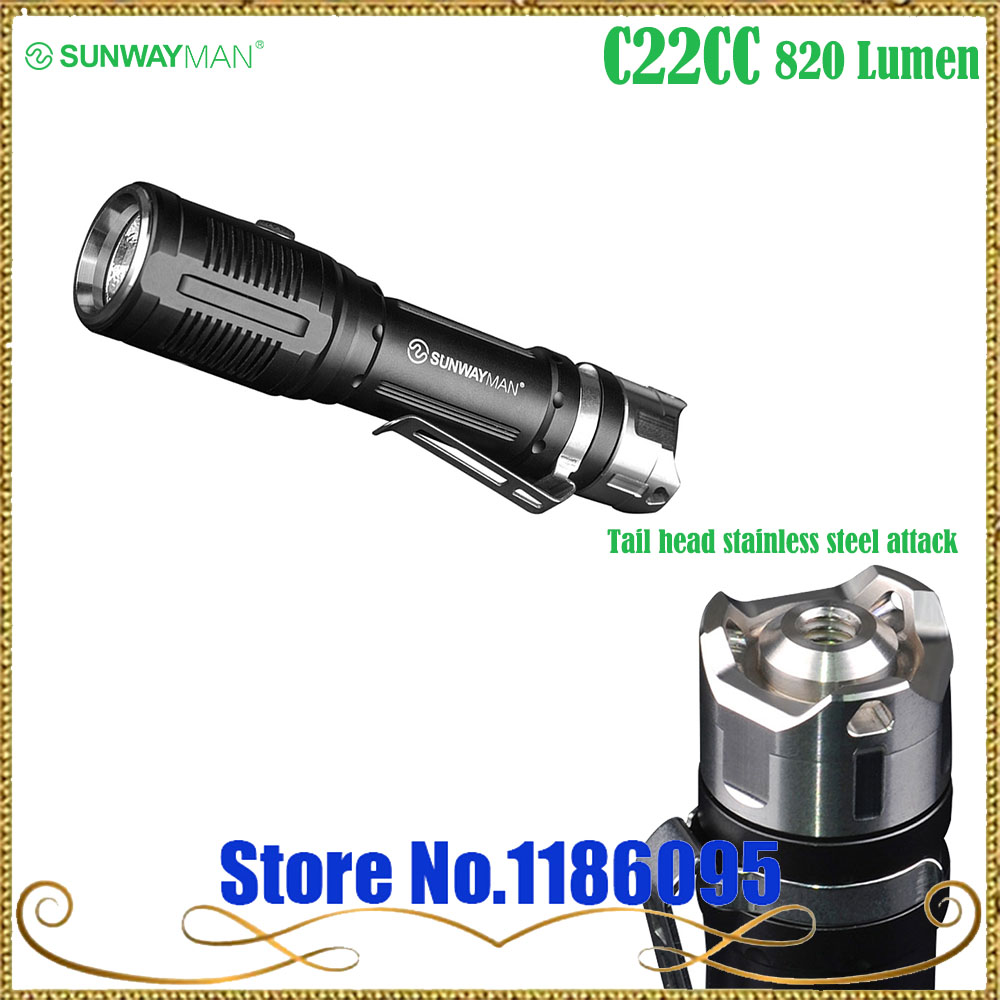 New design SUNWAYMAN C22CC two light flashight Cree XM-L2 U2 LED/Cree XP-G2 R5 LED 820 Lumen use 18650/ 16340 /CR123A battery автоинструменты new design autocom cdp 2014 2 3in1 led ds150