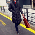 More long down jacket in winter han edition cultivate one's morality business thin white men big yards pure color coat