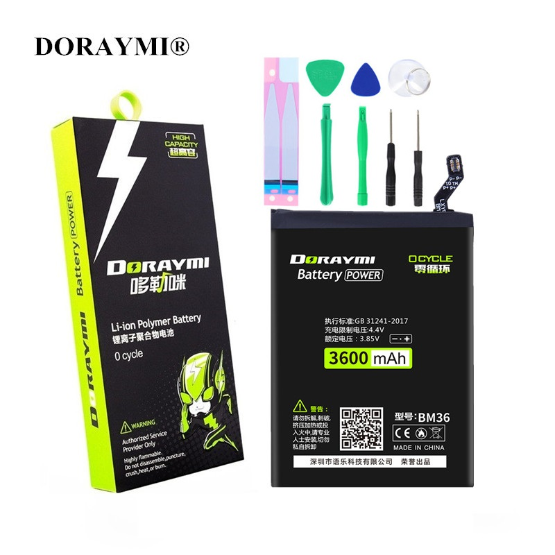DORAYMI <font><b>Battery</b></font> BM36 BM22 BM32 BM35 BM39 for <font><b>Xiaomi</b></font> <font><b>Mi</b></font> <font><b>4</b></font> 4C 5 5S 6 Mi4 Mi4C Mi5 Mi6 Mobile Phone <font><b>Batteries</b></font> Replacement Bateria image