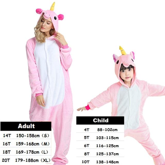 cd23eeb55f Baby Boys Girls Pajamas Sets Panda Unicorn Pajamas For Women Onesie Cosplay  Cartoon Animal Sleepwear Winter Pajamas Pyjamas Kids