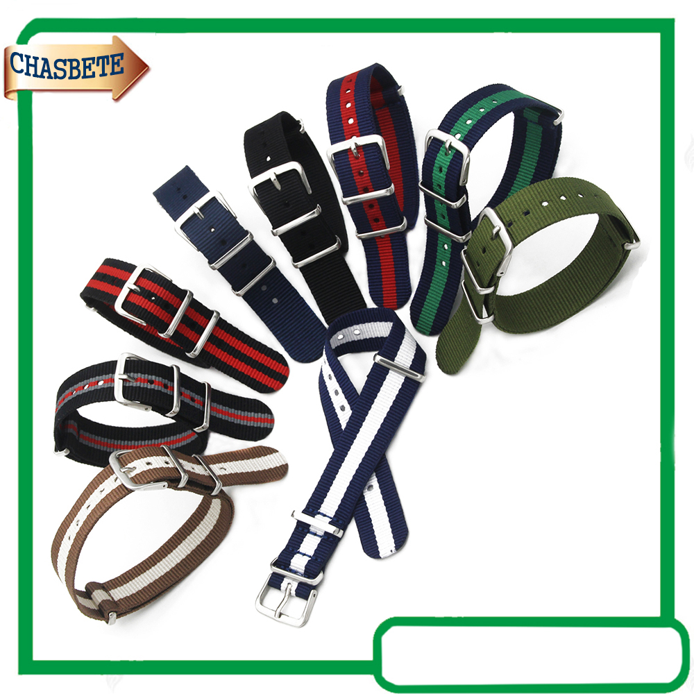 Nylon Fabric Watch Band for Fossil 18mm 20mm Watchband Canvas Strap Wrist Belt Loop Bracelet Black Blue Brown Red Green + Pin 18mm genuine leather watchband tool for huawei watch women s smartwatch band wrist strap plain grain belt bracelet black brown
