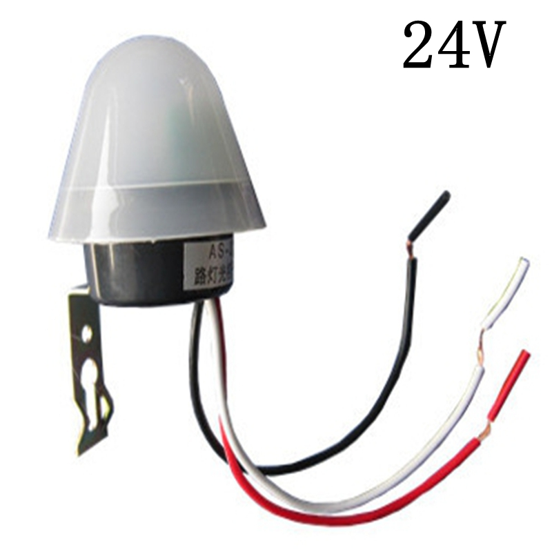 1pcs Waterproof as-20 light-control switch 24v multi-purpose light sensor automatic switch controller rainproof as 20 light control switch 220 12v light sensor switch automatic intelligent switch street lamp controller cm022 cm089