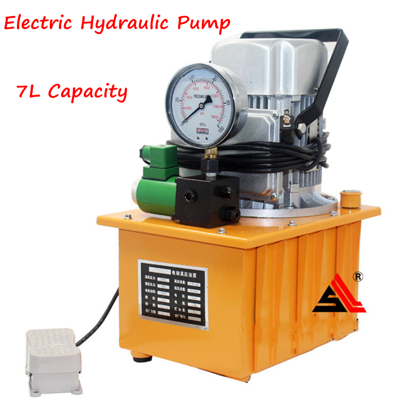High Pressure Electric Hydraulic Pump  HHB-700A electric oil pump Pedal - with Solenoid Valve Oil Pressure Pump