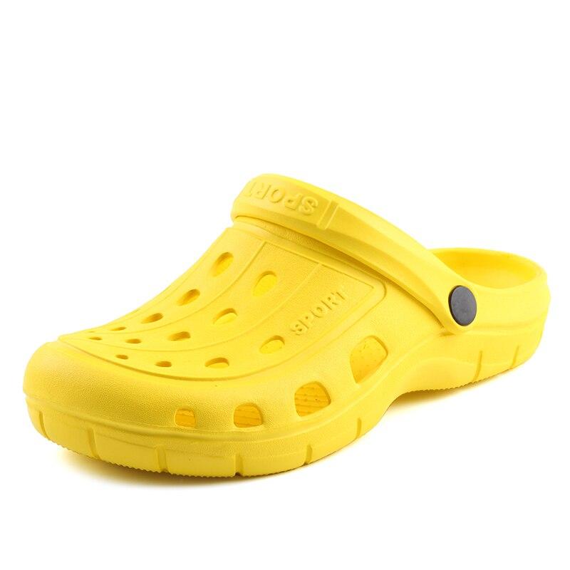 2018 nuevos solidos hombres/mujeres Sandalias de verano hombres Croc Sandalias pareja verano Zapatos huecos playa jardín mujeres nido zapatos