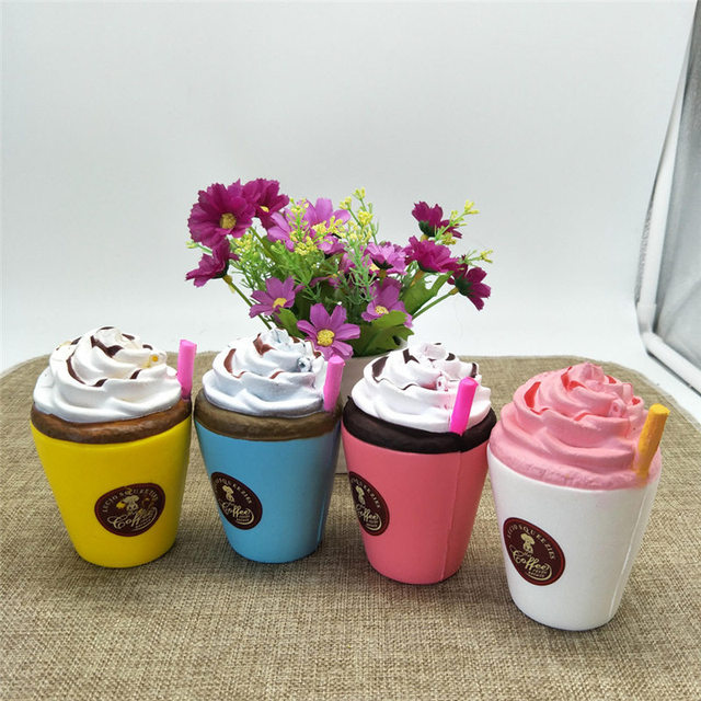 Coloriage Anti Stress Cupcake.Hot Sale Squash Anti Stress Toy Colossal Cup Cake Slow Rising Cream