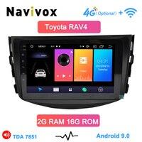 Navivox Android 9.0 car dvd player for Toyota RAV4 Rav 4 2007 2008 2009 2010 2011 2 din 1024*600 car dvd gps wifi rds
