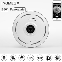 INQMEGA Ip Camera 360 Degree Panoramic 1.3MP 960P Fisheye WiFi Camera Network Home Security Camera CCTV Camera Night Vision P2P