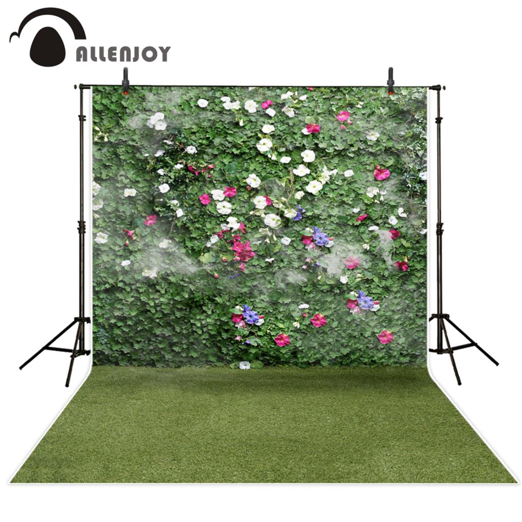 Allenjoy photography backdrops Garden Boston ivy grass flowers photographic background photography studio funds