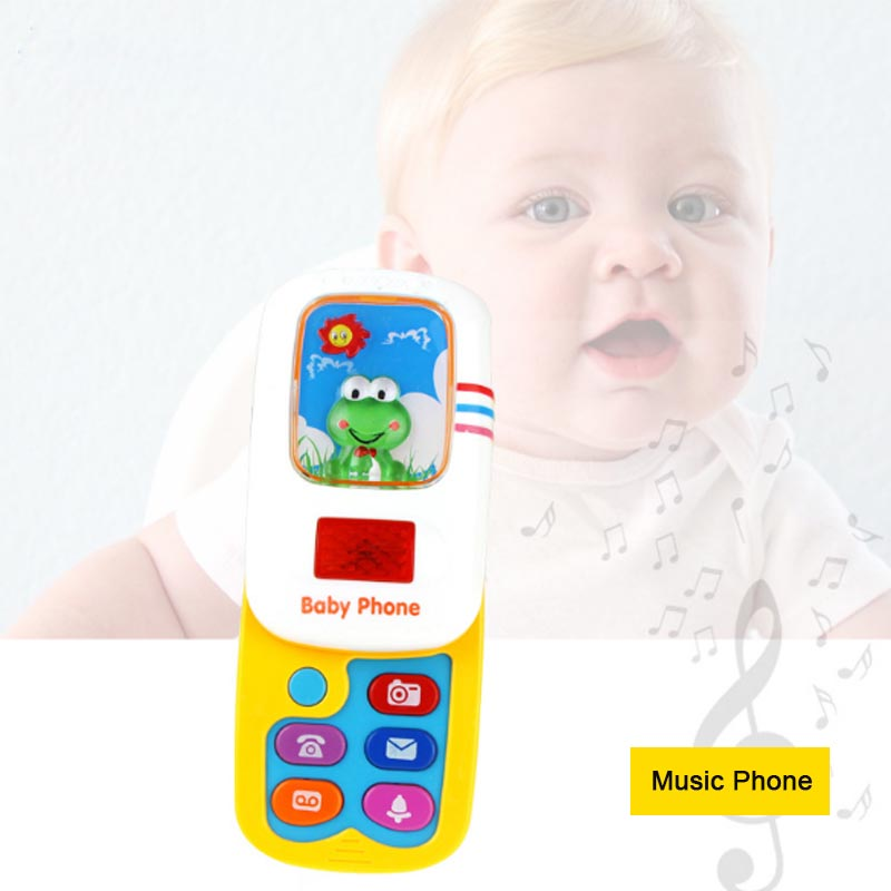 LED Baby Educational Toys Cellphone Music Baby Phone Toy Mobile Phone Model Children Learning Toy Bebe De Juguete Telephone Toy