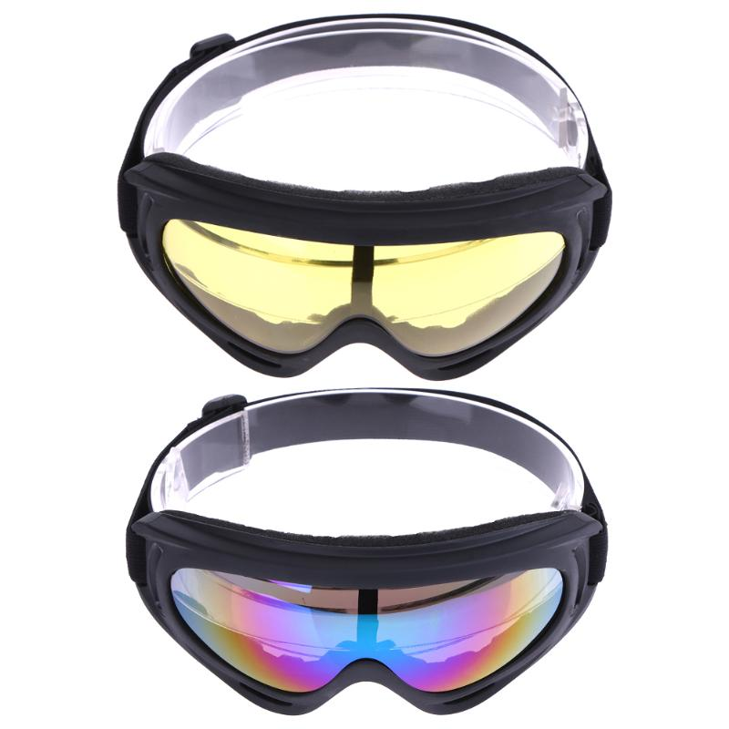 2Pcs Usniex Windproof UV Ski Sunglasses Outdoor Snow Snowboard Motorcycle Tactical Goggles Winter Eyewears 2 Colors