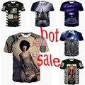 2015 tamanho S-XXL Top hot! Sky 3d de manga curta t shirt ocasional t - camisa impresso camisetas
