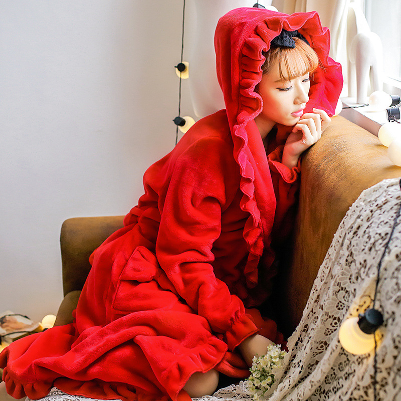 Buy ruffle dressing gown and get free shipping on AliExpress.com