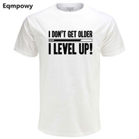 Eqmpowy Men Summer T Shirts Funny Letters Design Golden T Shirts Printed 100 Cotton Combed Cotton