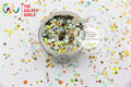 RAF321-195 Mix Colors Dot shapes round  Glitter for nail art ,nail gel,makeup and DIY decoration