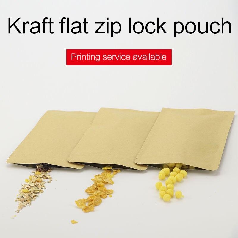934f03d67 Detalle Comentarios Preguntas sobre Bolsa de fondo plano con cremallera  marrón papel kraft papel de aluminio zip lock bolsa de café resellable té  bolsas de ...