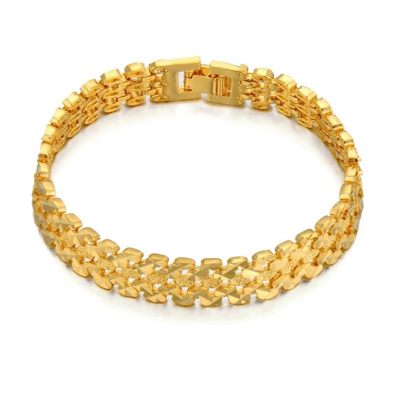 Bracelet Women Jewelry Star Gold Chain & Link Bracelet For Women Wholesale Braslet 2017 Gold Color Female Bracelets