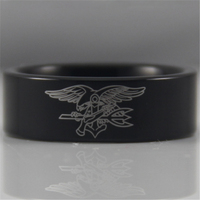 Free Shipping USA UK Canada Russia Brazil Hot Sales 8MM Black Pipe Navy Seals Military Design