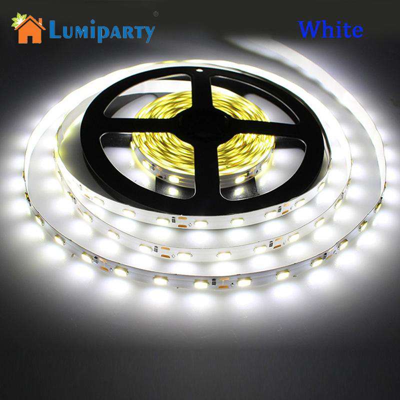 LumiParty 5M RGB LED Strip Light waterproof RGB 300led SMD Ribbon Ceiling Counter Cabinet Light 1ruban led battery-powered 12V