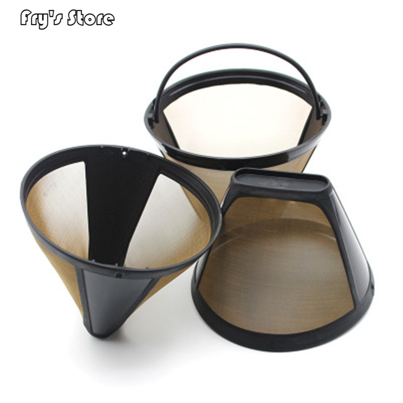Coffee Maker Accessories Stainless Steel Reusable Cone-Style Kitchen Gadgets Coffee Filter Handmade Kitchenware 2019 New 1 Pcs
