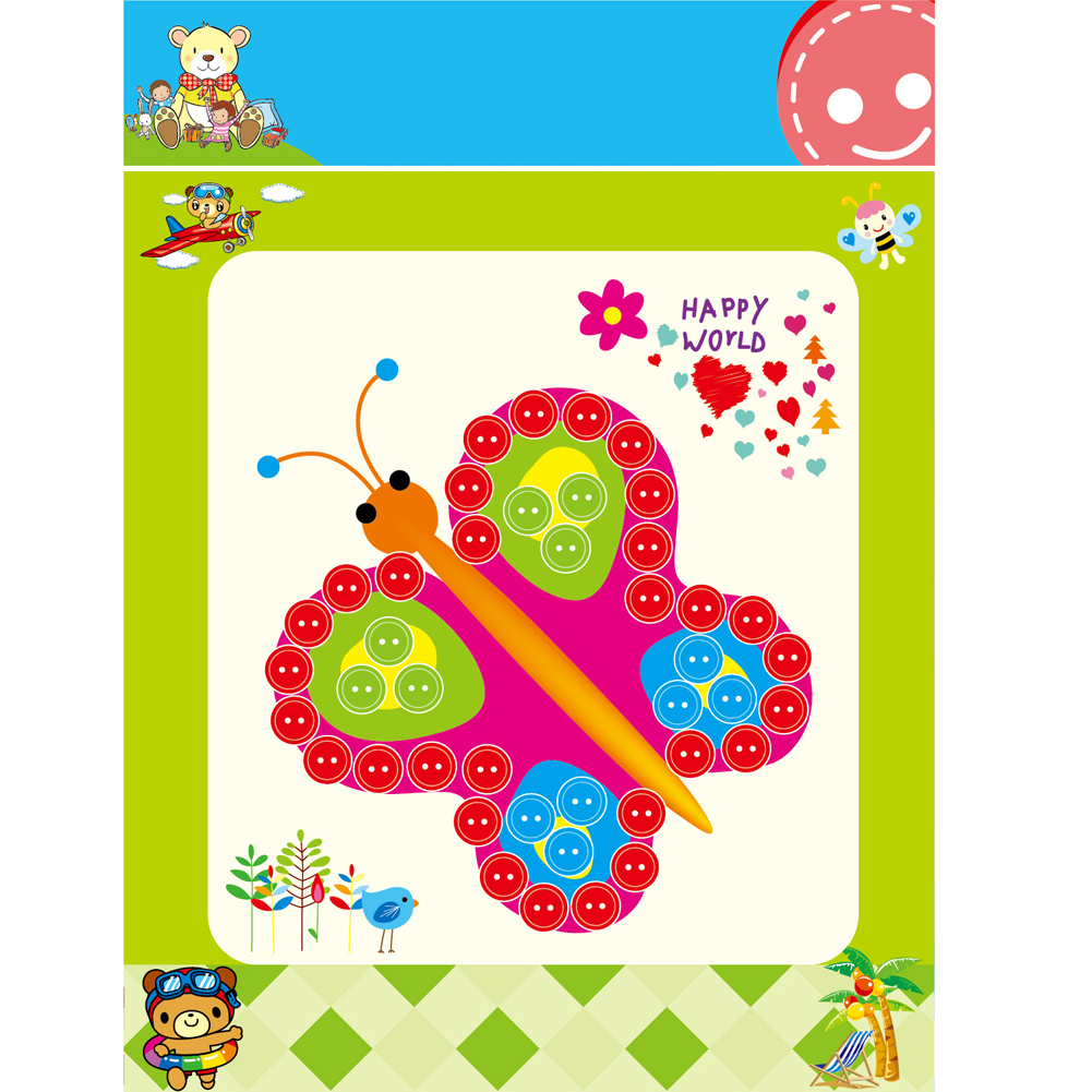 Children-Student-Learning-Educational-Drawing-Toys-Kids-Child-DIY-Button-Stickers-Picture-Handmade-Painting-Drawing-Craft-Kit-5