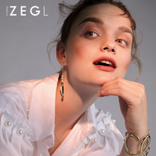 ZEGL new fashion earrings female temperament long pendant small fish personality designer