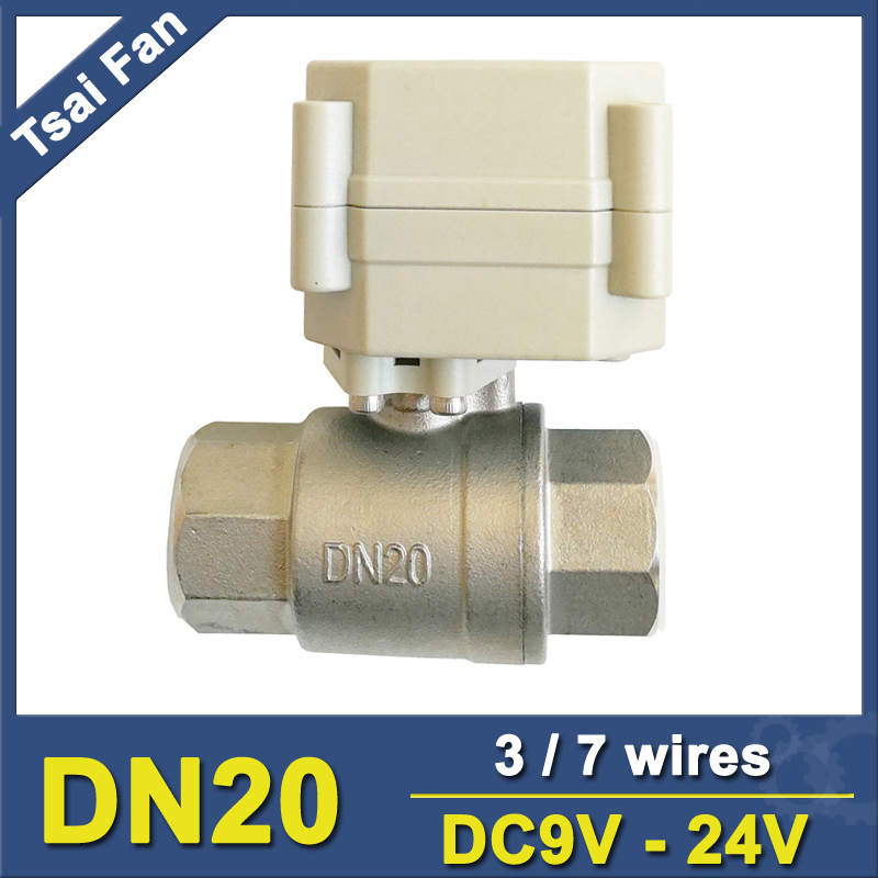 TF20-S2-A Full Port 3/4'' Electric Water Valve Stainless Stell DN20 BSP/NPT Thread On/Off 5 Sec Metal Gear Warranty 1 Year tf20 s2 c high quality electric shut off valve dc12v 2 wire 3 4 full bore stainless steel 304 electric water valve metal gear page 9