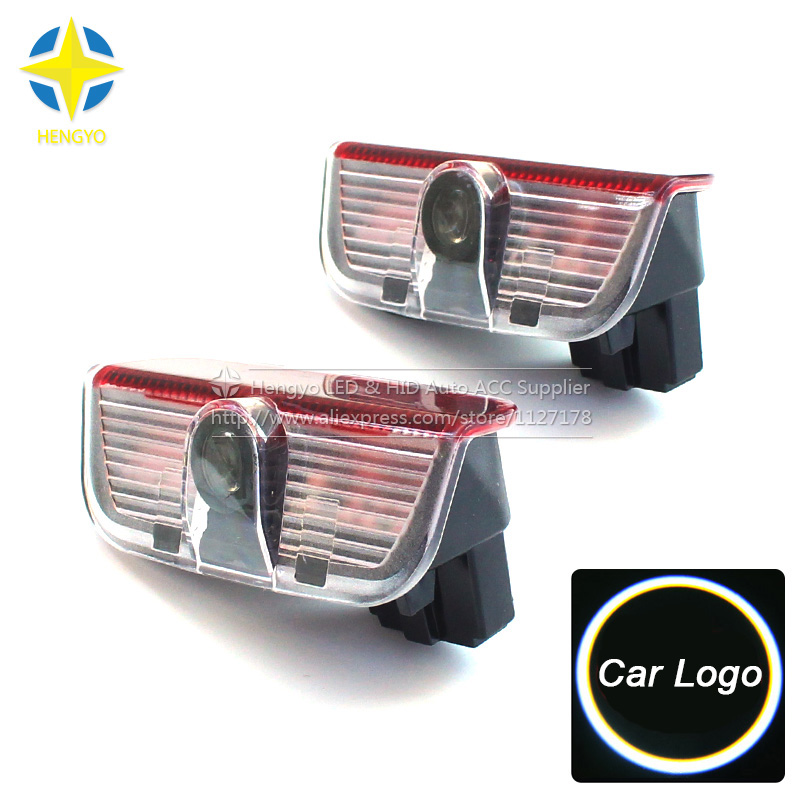 LED Door Warning Light With Logo Projector For VW Golf 5 6 7 Jetta MK5 MK6 MK7 CC Tiguan Passat B6 B7 Scirocco With Harness vw led footwell light for vw golf 6 7 gti r20 jetta mk5 mk6 tiguan scirocco passat b6 b7l cc include 3 color choose anytime