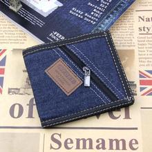 Moe retro meeste rahakoti muutus rahakott raha kott omanik õpilane rahakott sidur mini mündi rahakott denim tõmblukk käekott