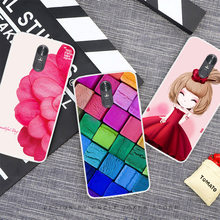 Cartoon Animal Flower TPU Case For LG Stylus 3 painted Phone Case For LG Stylus 3 Soft Silicone Back Cover Case(China)