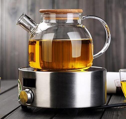 Kitchen Kettle Village Coupons: 36 Pcs Hot 1000ml Heat Resistan Glass Teapot Simple Tea